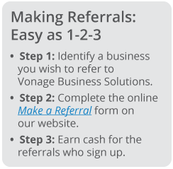 business phone system: 1-2-3 steps to making a referral