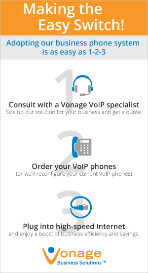 Business phone system: Switching is Easy graphic