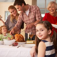 Small Business Phone Service: Thanksgiving scene