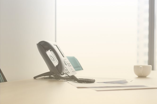 An office telephone.