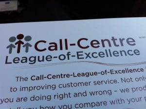 Call Centre League of Excellence