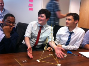 Spaghetti and Marshmallows explain Agile Development