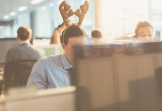Use your business phone greeting to get in the holiday spirit.