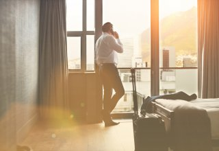 A hotel guest's stay is enhanced by a hotel communication strategy that includes mobile
