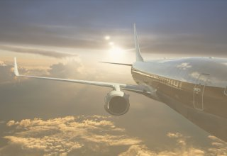 An airline uses customer relationship management as they fly a plane to its destination