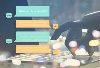 Customers chat with a chatbot, one of many vital retail marketing strategies