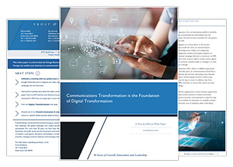 Communications Transformation Whitepaper Pages