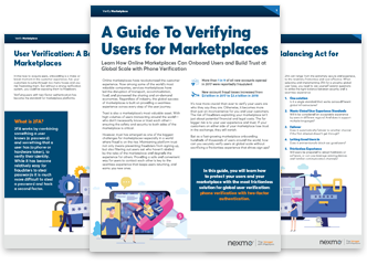 Verifying Users in Marketplaces Pages