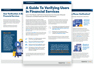 Verifying Users in Financail Services Pages