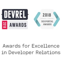 DevRel and DevPortal Awards for Excellence in Developer Relations logo