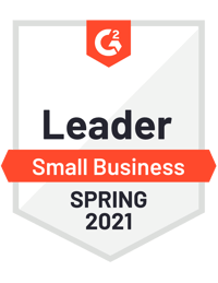 G2 Leader Small Business Spring 2021 Award