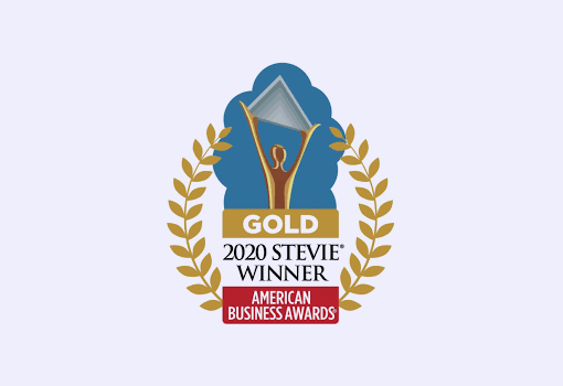 2020 Gold Stevie Award logo