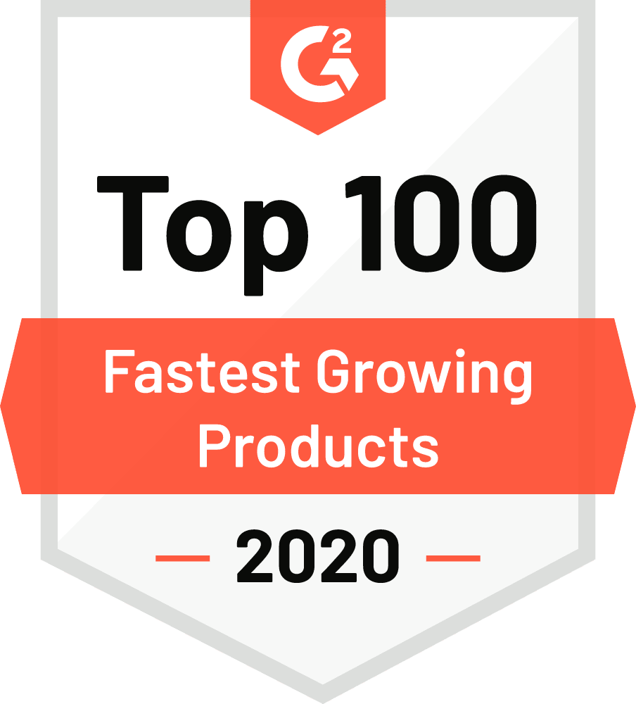 G2 Top 100 Fastest Growing Products